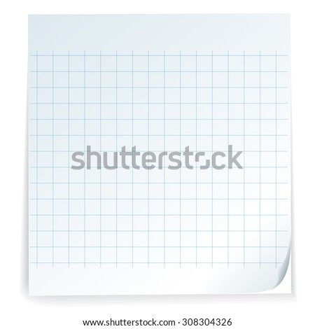 stick note isolated on white background