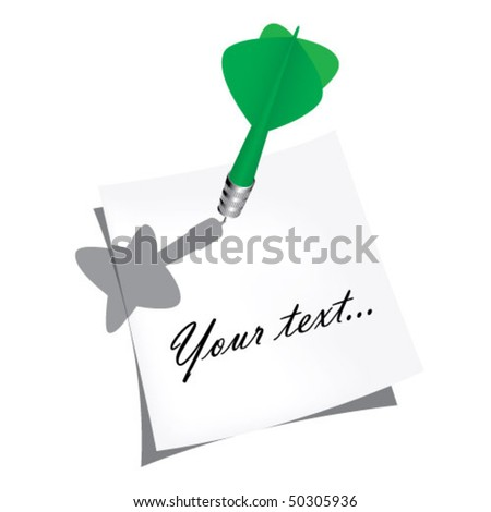 sticker and  arrow - stock vector