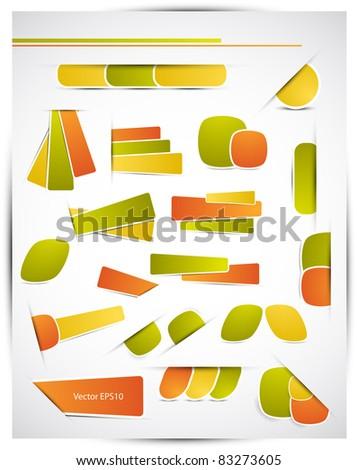 Sticker design elements, Vector EPS10. - stock vector