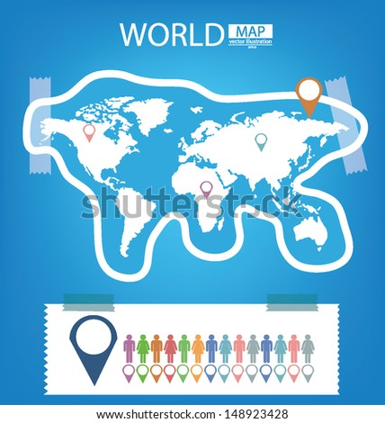 Sticker infographic world map vector illustration stock vector sticker infographic world map vector illustration gumiabroncs Images