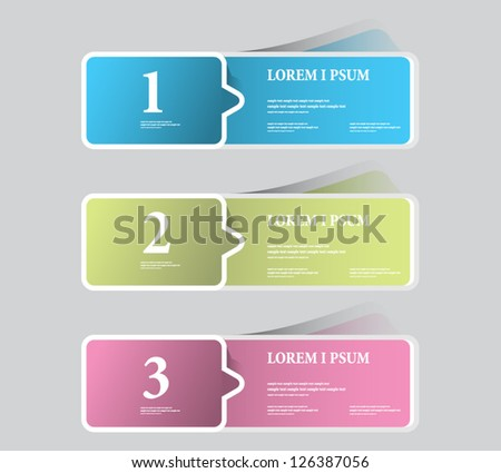Sticker Label color set - stock vector