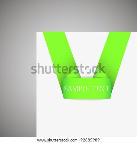 sticker on white paper. Vector illustration - stock vector