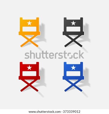 Cinema producer seat vector illustration collection stock for Chair design elements