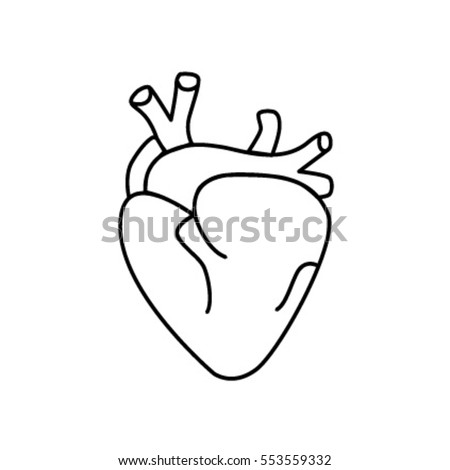 Sticker patch real flat icon cartoon white bright hand drawing of heart suitable for medical brands