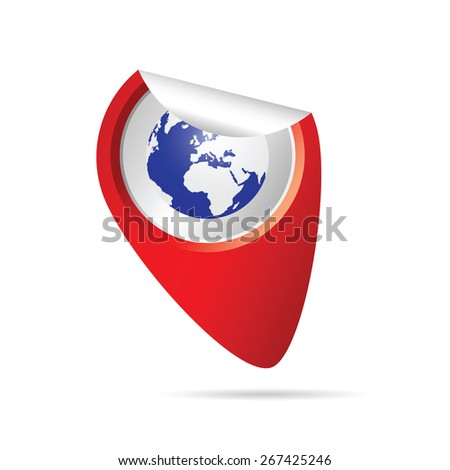 sticker planet color art vector - stock vector