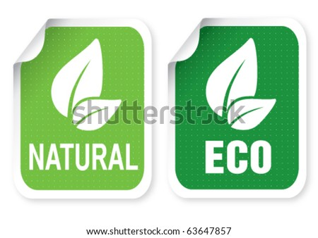 Sticker with a text - stock vector