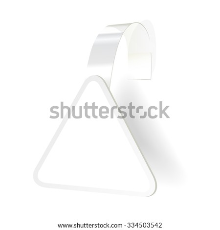 Sticker with transparent strip isolated on white background. Vector illustration - stock vector
