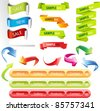 Stickers and banners vector set - stock vector