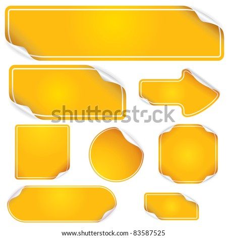 Stickers and Labels, blank vector templates for your text - stock vector