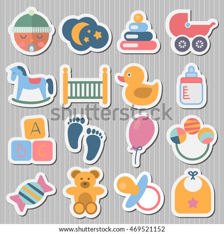Stickers Baby icons