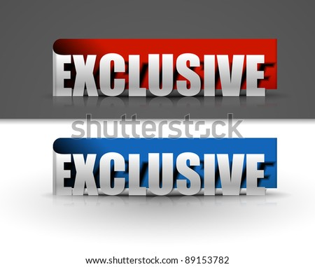stickers for exclusive design, vector illustration - stock vector