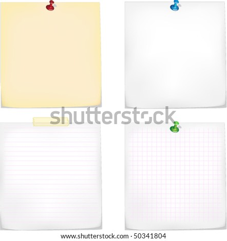 stickers set - stock vector