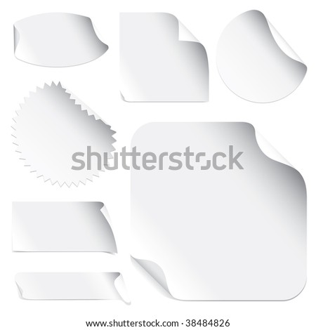 Stickers (vector). In the gallery also available XXL jpeg version of this image. - stock vector