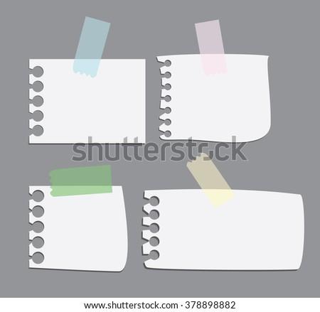 Sticks note paper - stock vector