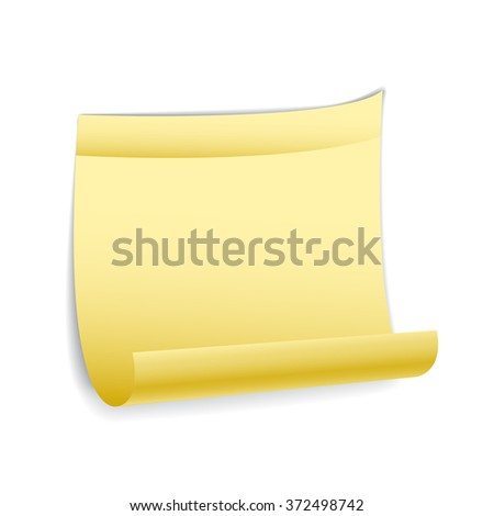 sticky note, vector
