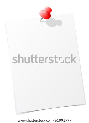 sticky note vector illustration - stock vector