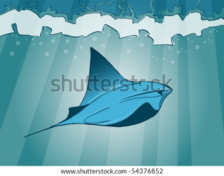 stingray. handdraw picture. - stock vector