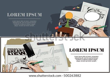 stock illustration people retro style presentation stock, Presentation templates