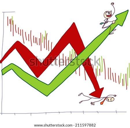 Stock index - stock vector