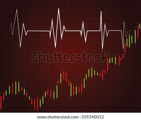 stock market chart vector illustration background represent down trend of stock market - stock vector