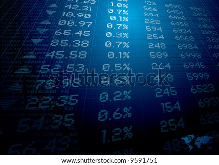stock market figures on a background ideal for reports or finance - stock vector