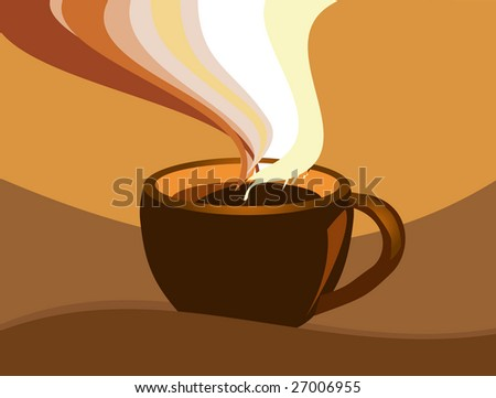 Stock photo: an image of a cup of coffee