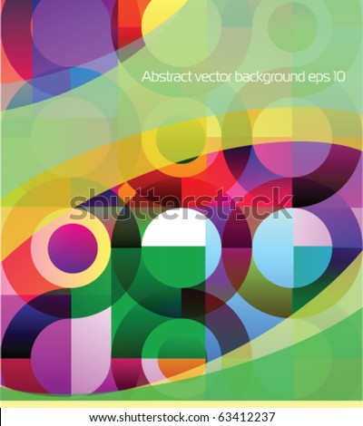 Stock vector colorful background