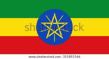 Stock Vector Flag of Ethiopia - Proper Dimensions - stock vector