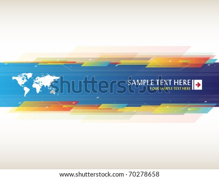 Stock Vector Illustration:  Abstract background with place for your text - stock vector