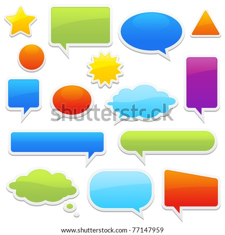 Stock Vector Illustration: pop-up bubble with shadow on white background many styles in vector format. - stock vector