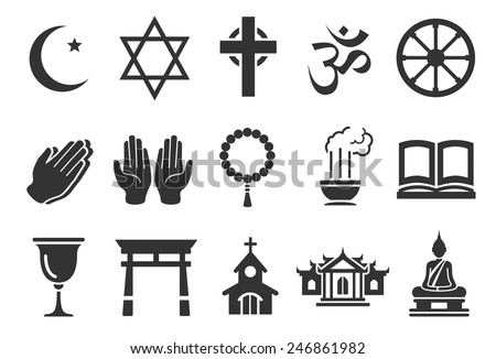 Stock Vector Illustration: Religious icons - stock vector