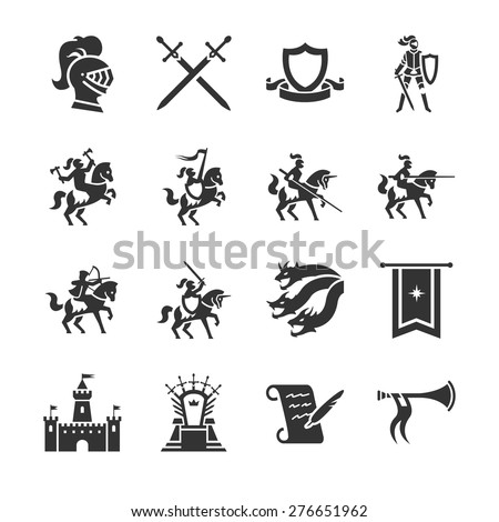 Stock Vector Illustration: The middle ages icon - stock vector