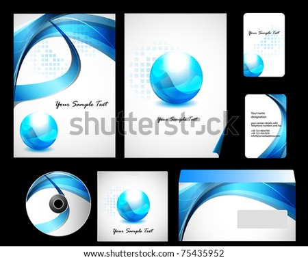 Stock Vector Illustration: Vector stationery set eps10 for your design - stock vector