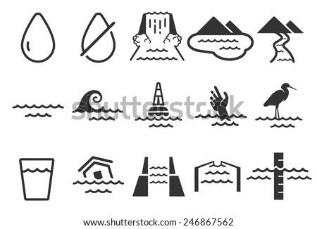 Stock Vector Illustration: Water icon - stock vector