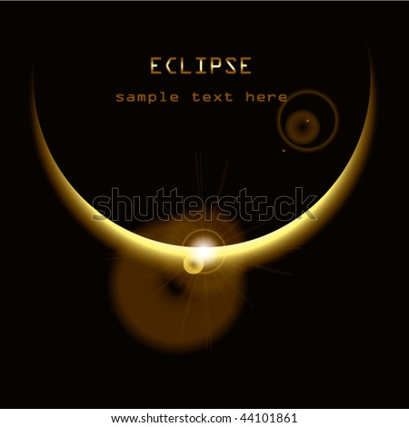 stock vector image of eclipse-sun under a planet  - stock vector