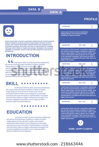 stock vector / info graphic resume template design