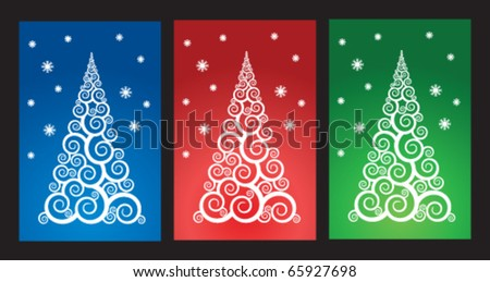 Stock vector new year cards - stock vector