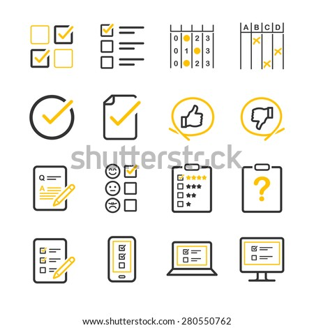 Stock Vector Questionnaire and Survey icons - stock vector