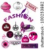 stock vector set of fashion labels - stock vector