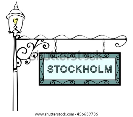 Stockholm retro pointer lamppost.
