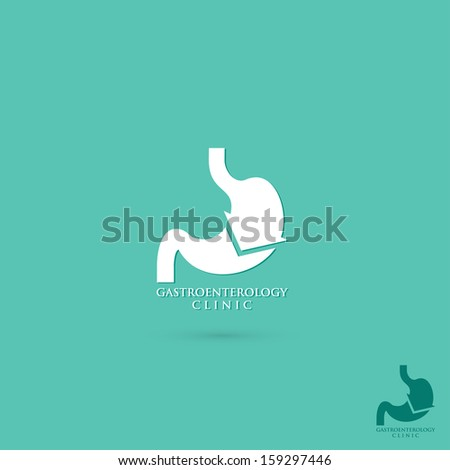 Stomach symbol - vector illustration - stock vector