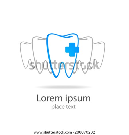 Stomatology sign. Dental Clinic Logotype concept. Dentist Logo tooth shape design vector template.  - stock vector
