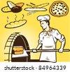 Stone Oven Baker - stock vector
