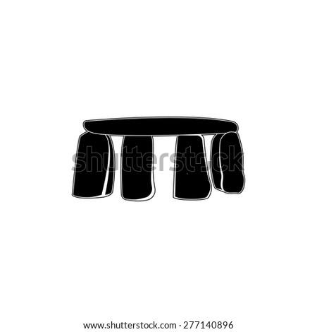 Stonehenge, England, icon  - stock vector