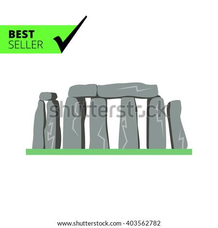 Stonehenge icon - stock vector