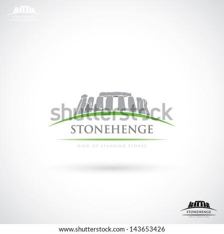 Stonehenge label - vector illustration - stock vector