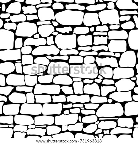 stones seamless pattern vector rock stone stock vector 731963818 rh shutterstock com Stone Wall Drawing old stone wall clipart