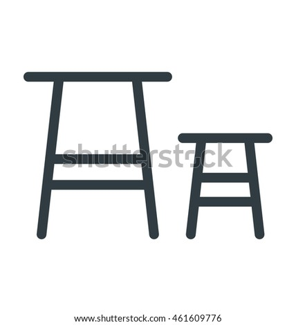 Stool Vector Icon