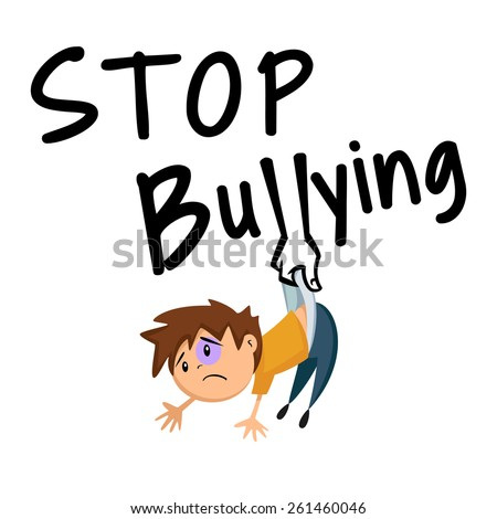 Stop bullying, concept, vector illustration - stock vector