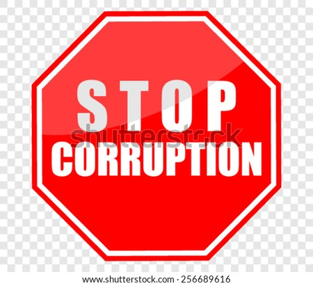 STOP CORRUPTION, SIGN - stock vector